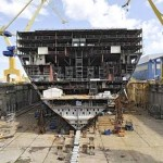 L'Oasis of the Seas durant sa construction