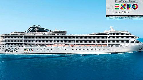 Navire de MSC Croisières présent à l'Expo Universelle de Milan 2015