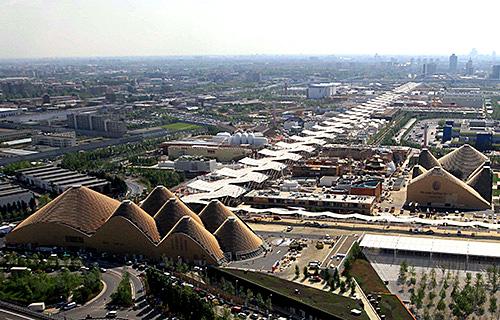 Vue aérienne de l'Exposition de Milan 2015