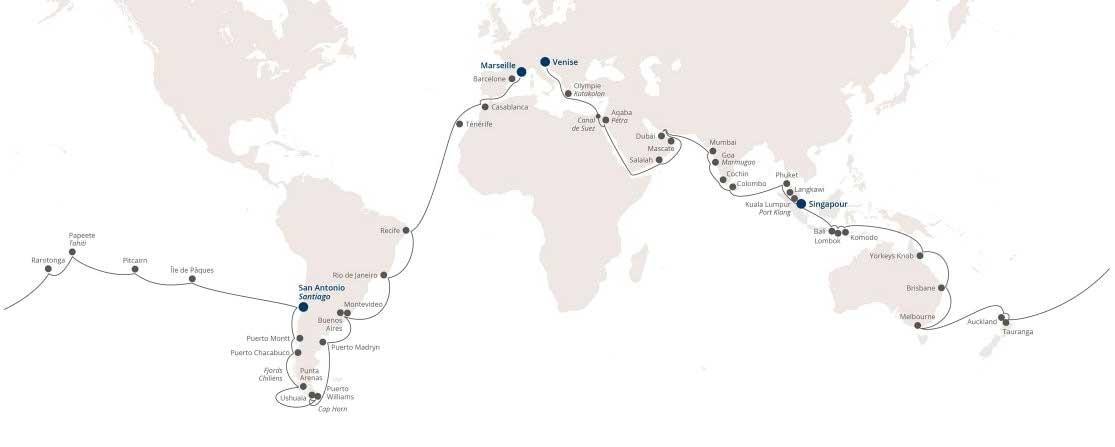 Tour du monde Costa Croisières 2019