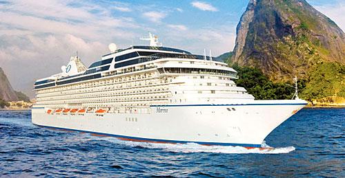 Le navire de croisière Oceania Marina