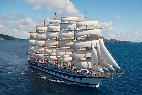 Le voilier de luxe Royal Clipper