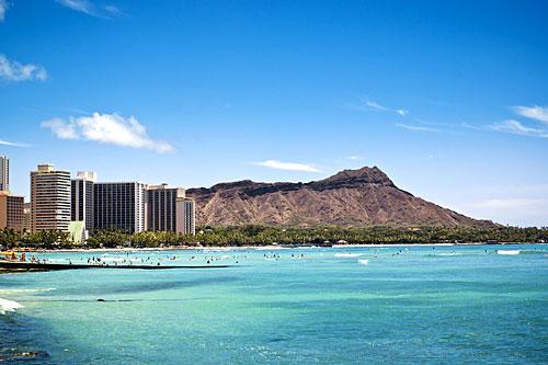 Aperçu du bord de mer de Waikiki (Hawaï)
