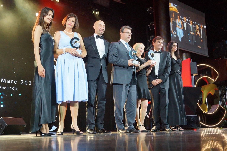 Au centre : Maurizio Spinetta (PDG de Jet-travel et Webcroisieres) lors de la remise du prix