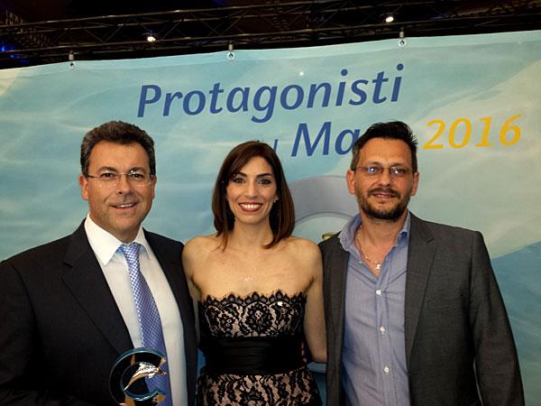 A gauche : Maurizio Spinetta (PDG de Jet-travel et Webcroisieres) A droite : Massimo Voyat (Responsable de l'agence Webcroisieres)