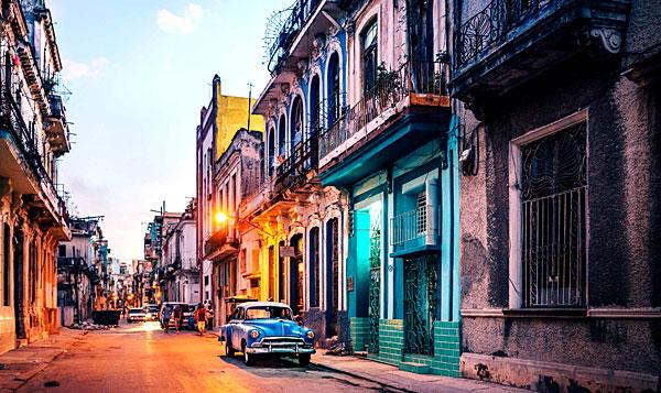 Rue de La Havane à Cuba