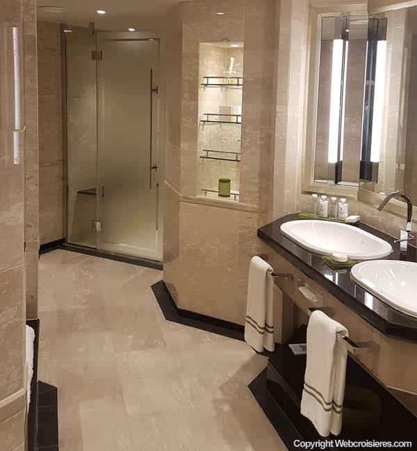 Une salle de bain d'une Suite du Silver Muse