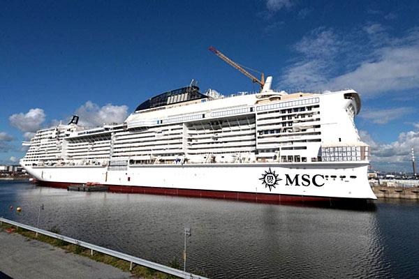 Le MSC BELLISSIMA en chantier