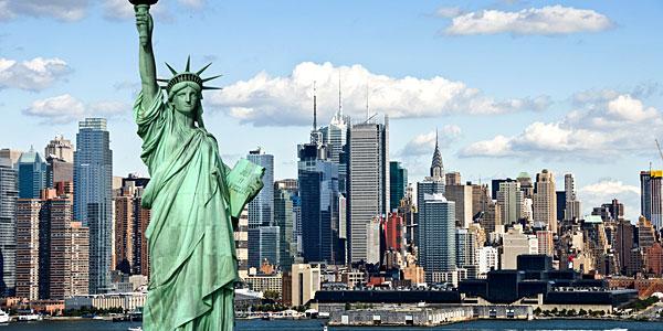 New York : point de vue sur la statue de la liberté