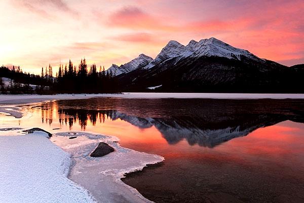 Canada : un couché de soleil spectaculaire