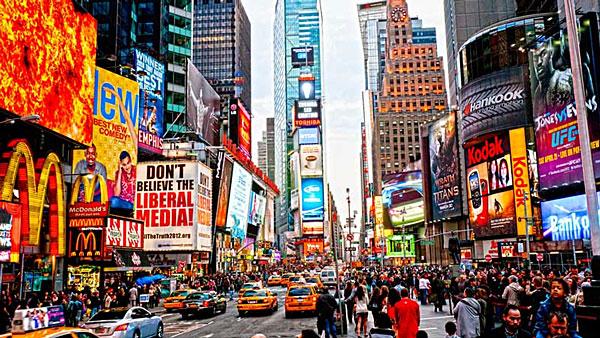 New York : point de vue sur Time Square