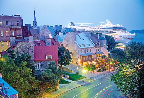 Point de vue sur la ville de Québec