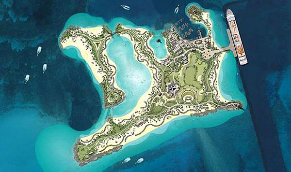 Ocean Cay vue de dessus