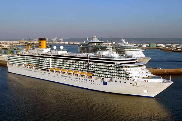 Le Costa Diadema au port du Havre