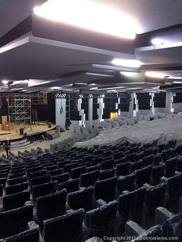 Point de vue sur le futur théâtre / salle de spectacle