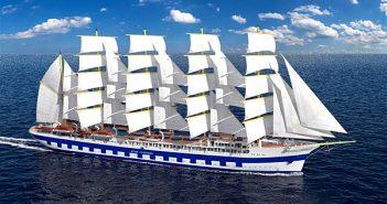 Flying Clipper : projection du futur voilier de la compagnie Star Clippers