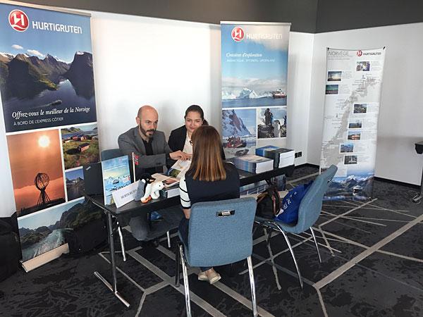 La compagnie de croisières Hurtigruten représentée par Cyril Casanova. Hurtigruten est spécialisée dans les croisières vers les Fjords norvégiens et dans les régions polaires