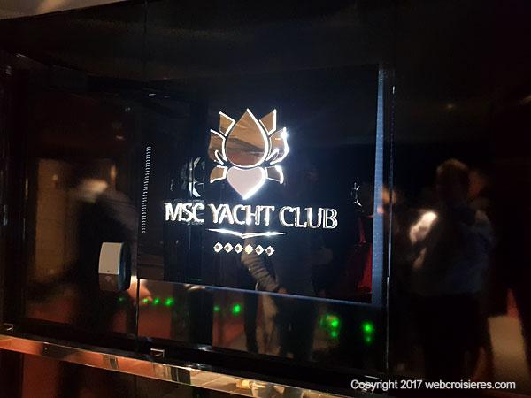 Esapce Msc Yacht Club du MSC Seaside