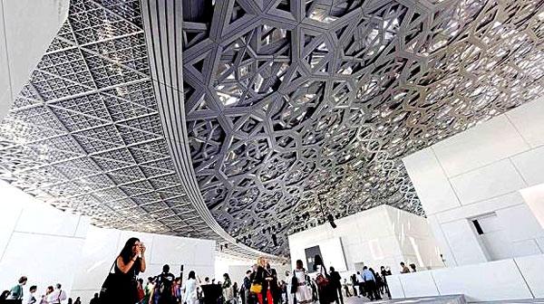 Le musée du Louvre d'Abu Dhabi (intérieur)