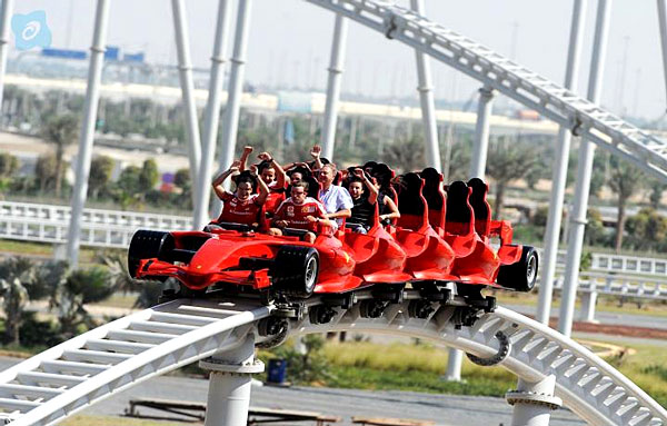 Montagnes Russes du Ferrari World d'Abu Dhabi