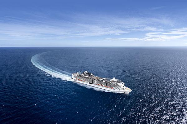 Le MSC Grandiosa en mer