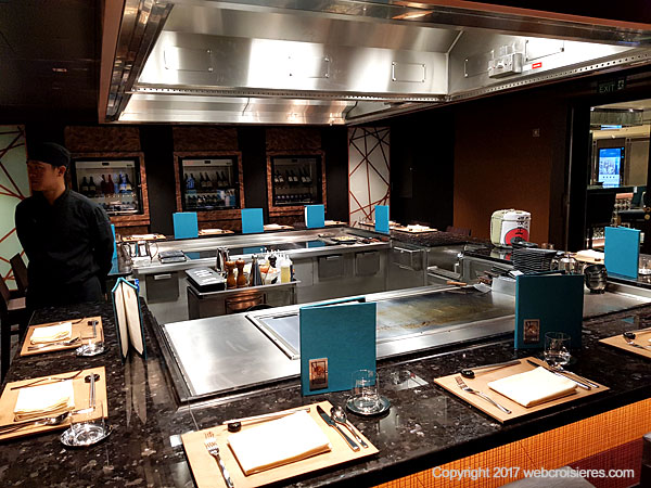 Notre avis sur le msc seaside compte rendu de visite for Restaurant japonais chef cuisine devant vous