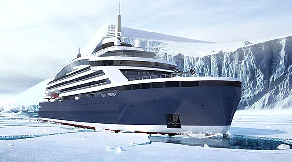 Projection du futur brise-glace Ponant Icebreaker