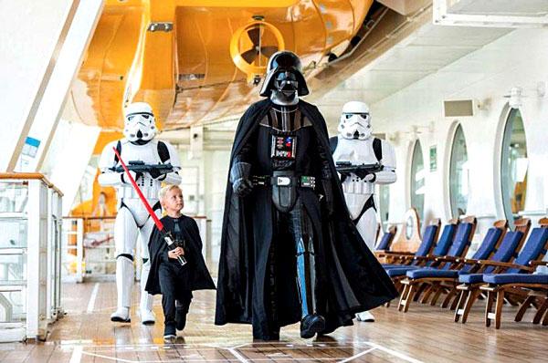 L'univers de Star Wars est également présent sur les navires de la compagnie