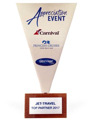 Trophée décerné à Jet-travel