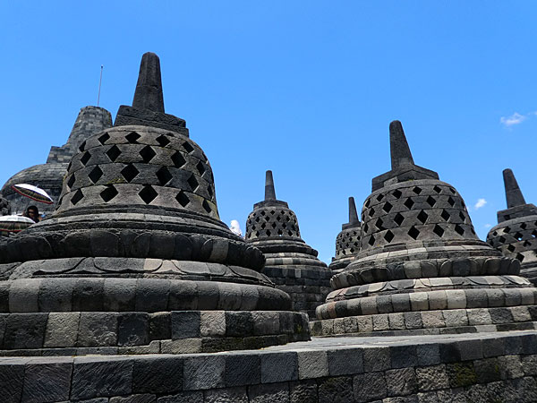 Edifices d'un temple de borobudur
