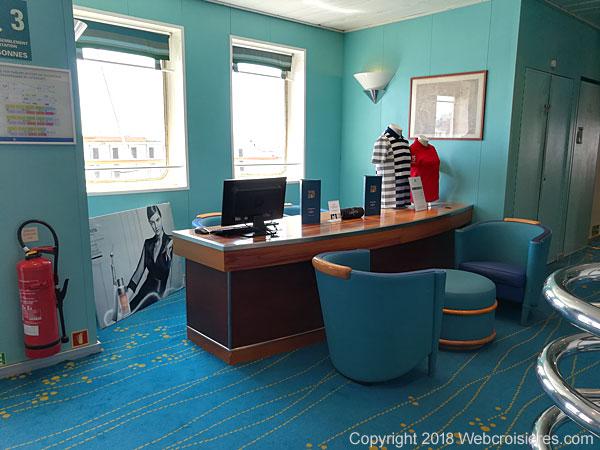 Bureau de réservation des soins au Spa du Club Med 2