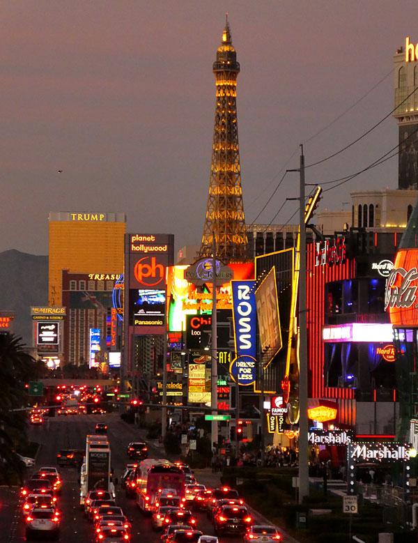 Vue sur l'hôtel casino Paris (Las Vegas)