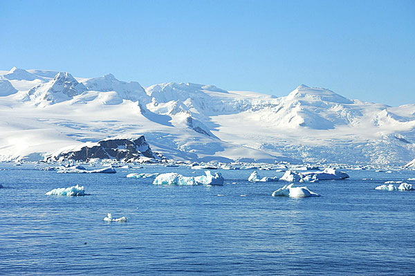 Point de vue sur l'Antarctique