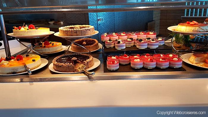 Quelques gâteaux disponibles à bord du Celebrity Reflection