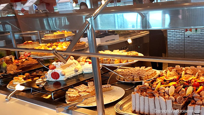 Exemple de buffet proposé à bord du Celebrity Reflection
