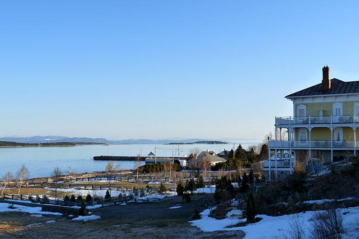 Point de vue sur le Saint-Laurent depuis Kamouraska (Québec)