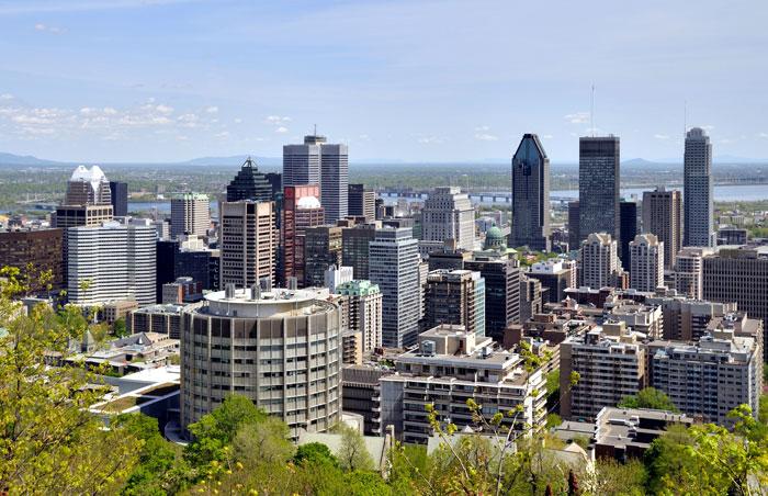 Point de vue sur Montréal