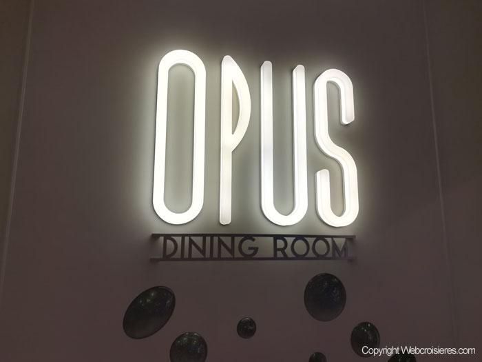 Enseigne du restaurant Opus Dining Room