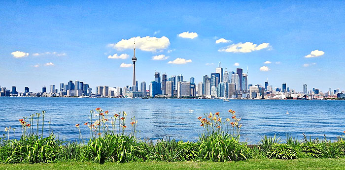 Point de vue sur la ville de Toronto