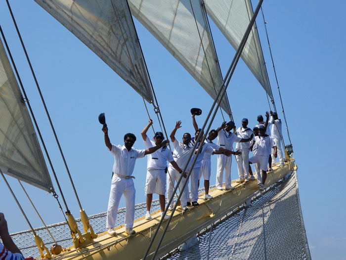 Equipage du Royal Clipper pour le photo-shot