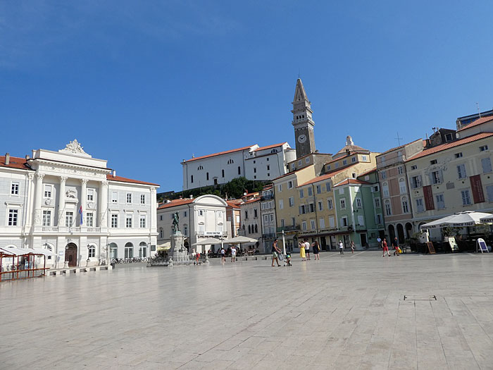 Place principale de Piran (Place Tartini)