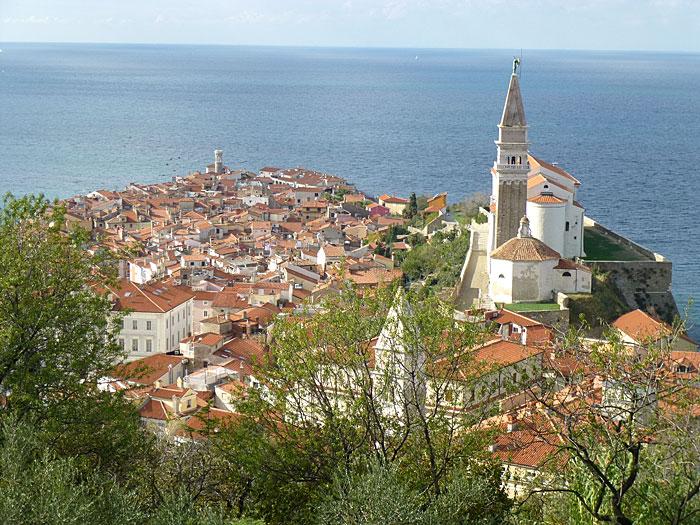 Piran (vue des remparts surplombant la ville)