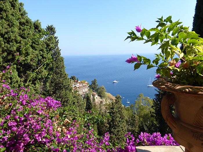 Vue depuis Taormina