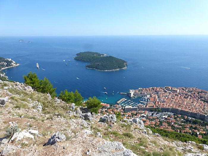 Vue depuis le sommet du funiculaire de Dubrovnik