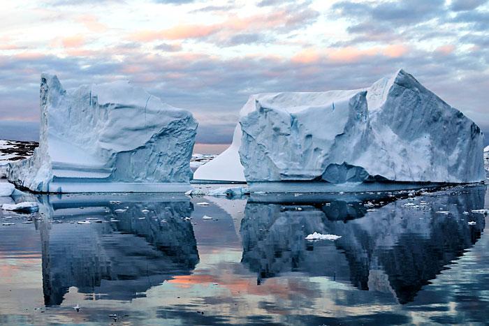 Glaciers présent en Antarctique