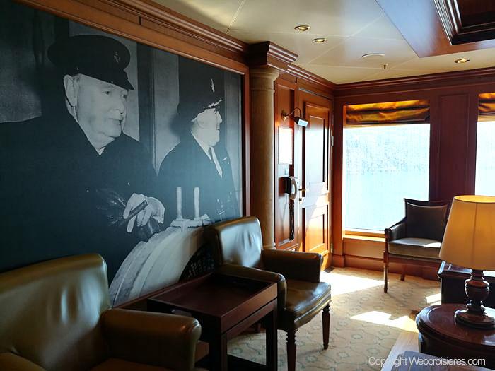 Vue sur le Churchill's Cigar Lounge