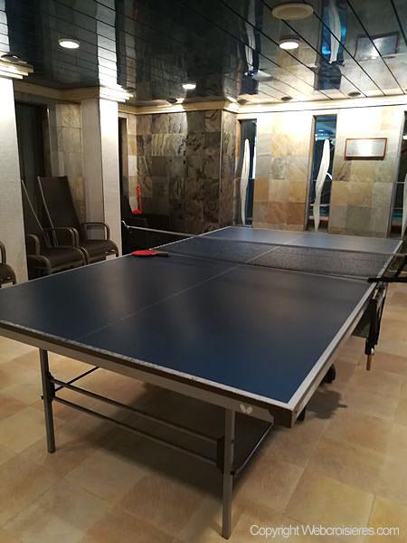 Une table de ping pong est même disponible...