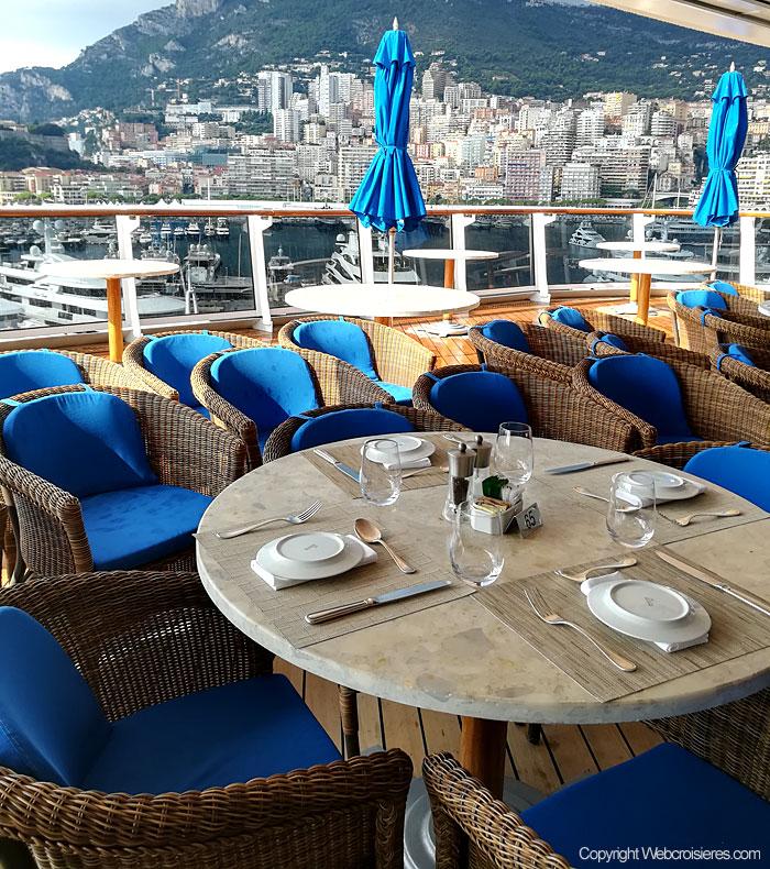 La terrasse du restaurant La Veranda