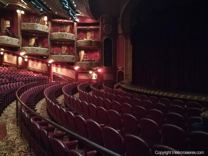 Le théâtre présent à bord du Queen Victoria
