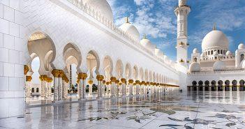 Mosquée Cheikh Zayed à Abu Dhabi : vue sur l'intérieur